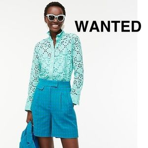 WANTED JCrew Embroidered Button Down Shirt